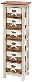 Deco 79 Benzara Shabby Wood Rattan Cabinet, 50-Inch by 16-Inch