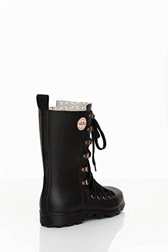 Nokian Footwear by Julia Lundsten - Botas de goma -Lace-up Biker- (Originals) [LUB125] Nero
