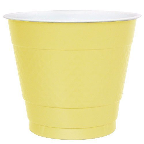 Pans Pro Collection 50 Count Plastic Cup, 9-Ounce (Yellow)