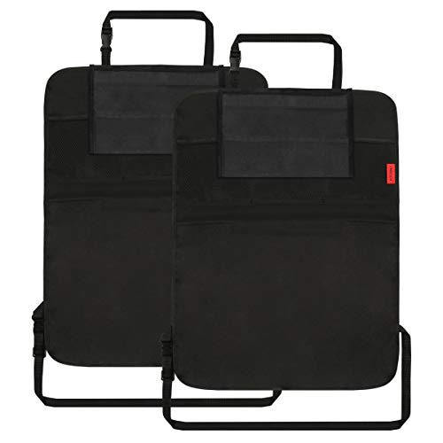 Dear Auto Kick Mats - 2 Pack - Premium Quality Car Seat Protector Mat with 10