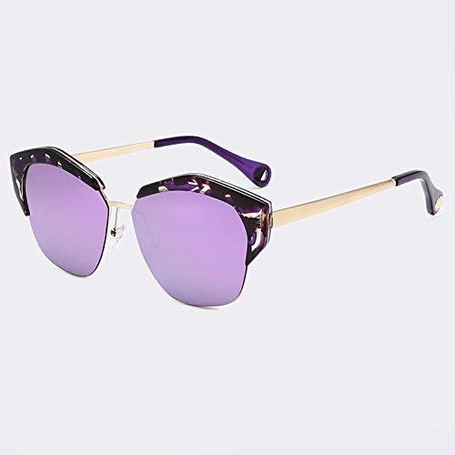 con sol Gato espejo Gafas metal mujer tonos TIANLIANG04 de de de Ojo gafas de C05 UV400 lentes marco clásicas C01 de w7xC8Enq
