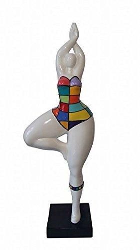 Mod/èle Nella pi/èce unique Hauteur 52 centim/ètres Statue de femme style Nana Niki de Saint Phalle d/écoration Laure Terrier