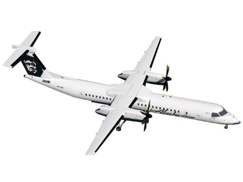 Gemini Jets 8-Q400 Alaska Dash Diecast Aircraft, 1:200 Scale (Alaska Airlines Model compare prices)