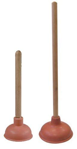 Amazon.com: 2-Pack Toilet Plunger and Drain Plunger Set, Force Cup ...