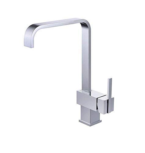 Taps Kitchen Sink Faucet Deck Mounted Chrome Polished Basin Faucet Hot&Cold Water Swivel Mixer Tap Kitchen Taps Taps