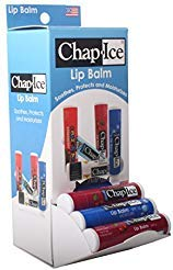 Chap Ice Assorted Lip Balm - Gravity Feed Display - Moisture SPF-15, Cherry SPF-4 (24 count)
