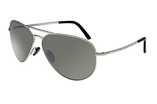 Porsche Designs Sunglasses P8508 C Palladium Olive with Silver Mirror 60 12 - Glasses Design Porsche Sun