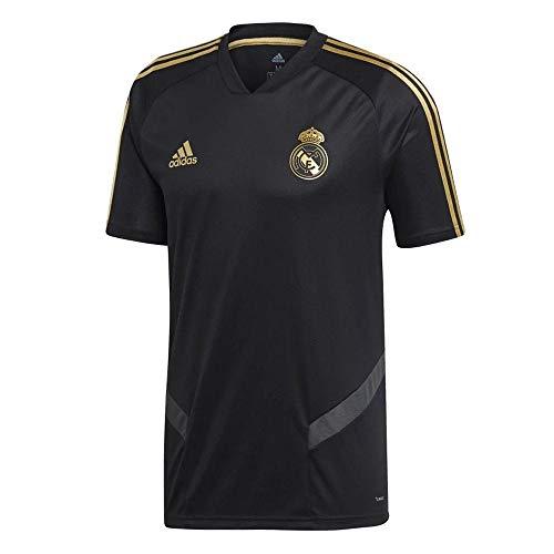 - adidas 2019-2020 Real Madrid Training Football Soccer T-Shirt Jersey (Black)