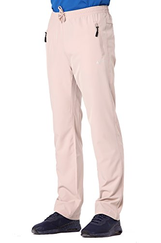 Clothin Men's Stretch Elastic-Waist Drawstring Pants with Front Zipper ()