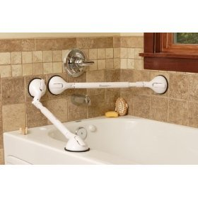 Amazoncom Grab Bars Pivoting and Telescoping grab bar extends