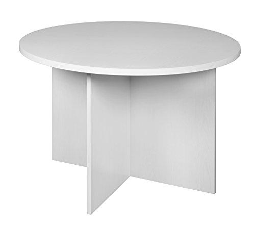 "Niche Mod 42"" Round Table- White Wood Grain"