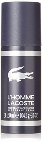 Lacoste Pour Homme Cologne - Lacoste L'homme Eau de Toilette Deodorant Spray, 3.6 oz.