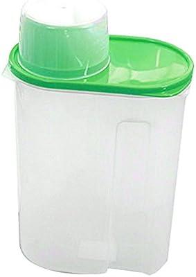display08/arroz Granos de Cereales dispensador de Almacenamiento de Alimentos Secos contenedor Tapa Caja sellada