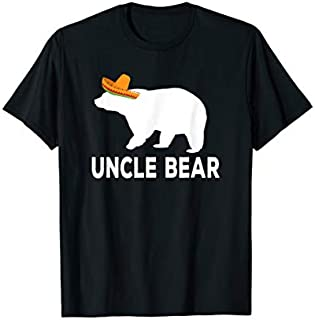 Cool Gift Mens Uncle Bear Happy Cinco De Mayo  Gift for Uncle Women Long Sleeve Funny Shirt / Navy / S - 5XL