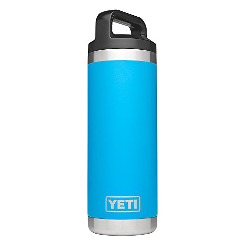 YETI Rambler 18oz Vacuum Insulated Stainless Steel Bottle with Cap, Tahoe Blue DuraCoat