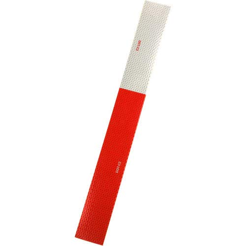 Heskins DOT C2 Approved Conspicuity Reflective Tape, 6'' Red/6'' White, 2'' x 150', 1 Roll (DOT2RW66)