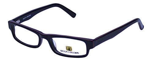 Body Glove Designer Eyeglass Frames BB113-BLK in Black Red KIDS SIZE ()