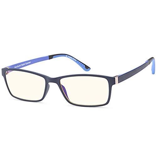 Trust Optics RX Grooved Optical Quality Glasses Frames Prescription Ready Rx-able Premium Eyeglasses w Anti UV400 Anti Harmful Blue Light Lens in Midnight - Gunnar Rx