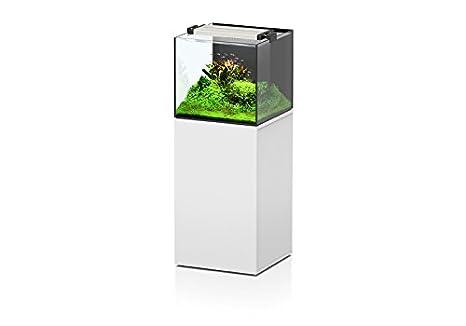 Aquatlantis Conjunto Acuario + mueble aquaview 50 x 50 x 45 agua de mar blanco: Amazon.es: Productos para mascotas