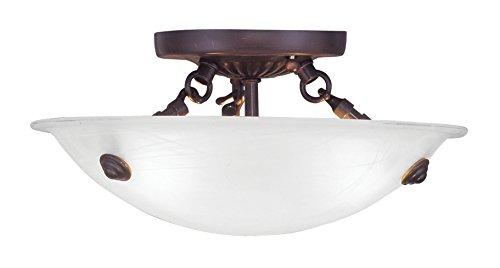 Livex Lighting 4272-07 Oasis 3-Light Ceiling Mount, Bronze ()