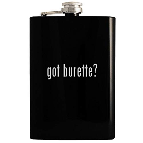 got burette? - 8oz Hip Drinking Alcohol Flask, Black Burett Burett Mens Watch