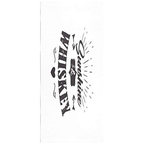 - KJONG Sunshine Blanket Microfiber Fast Dry Compact Kids Beach Towels Sunshine and Whiskey Motto White Frame with Stars Vintage Swimming Gym Camping Sunbath 30x60 Inch