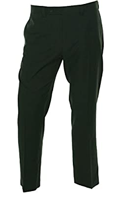 Calvin Klein Solid Flat Front Dress Pant