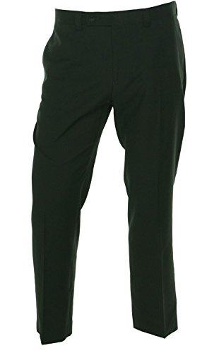 Calvin Klein Mens 33x32 Dress Flat Front Soild Pants Black 33 by Calvin Klein