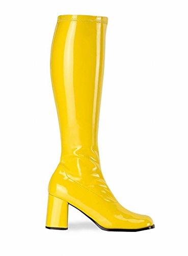GoGo Stiefel Lack gelb Größe: 39