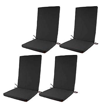 Edenjardi Pack 4 Cojines de Exterior para sillones ...