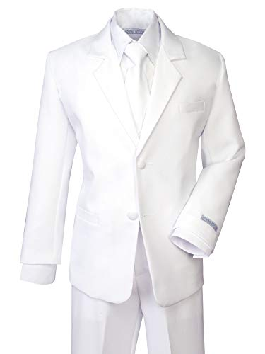 Spring Notion Boys' Formal White Dress Suit Set 10 -