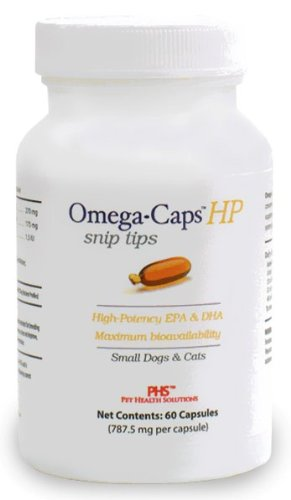 Omega-Caps HP Snip Tips for Small Dogs and Cats (60 Caps), My Pet Supplies