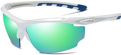 Deportes al Aire Libre Estilo Semi-sin Montura Gafas de Sol polarizadas para Hombres Protección UV400 Conducción Ciclismo Correr Pesca Golf Gafas de Sol Lentes (Color : White): Amazon.es: Deportes y aire libre