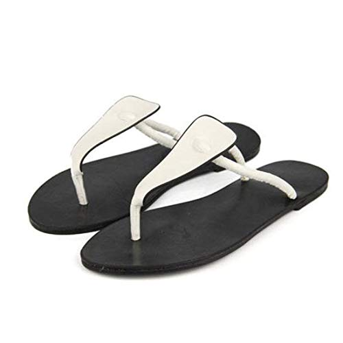 Chaussures Beach Size Chaussures Color à Chaussures White Talon Casual Color Flip Cijfay Plat Slipper Disponible Femme White Muti 37 aAqwStz