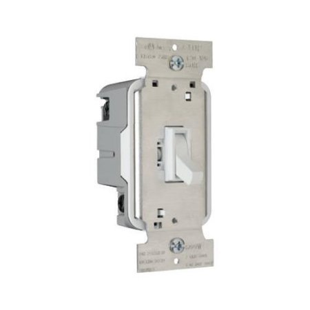 Legrand TradeMaster 600W Three Way Toggle Dimmer with Housing in White (Toggle Dimmer 600w)