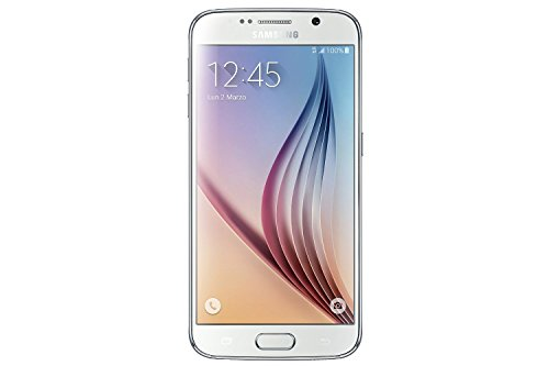 Samsung Galaxy S6 G920a 32GB Unlocked GSM 4G LTE Octa-Core Android Smartphone w/ 16MP Camera (Certified Refurbished) (White Pearl) by Samsung