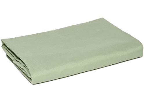 American Pillowcase Full Size Flat Sheet Only - 300 Thread Count 100% Long Staple Cotton - Pieces Sold Separately for Set Guarantee (Sage)