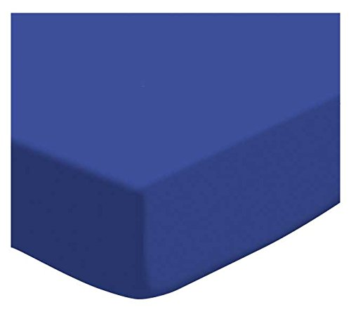 SheetWorld Fitted Cradle Sheet - Flannel - Royal Blue - Made In USA