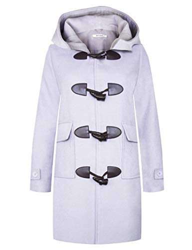 - APTRO Women's Winter Wool Pea Coat Long Double Breasted Overcoat Trench Coat (L, Ws03 Majestic Purple)