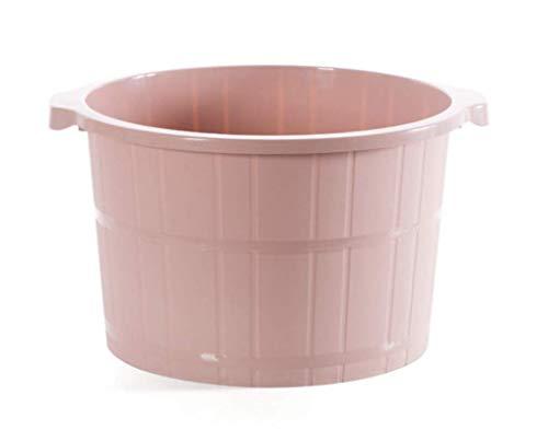 Zatikki Foot Spa Bath Massage Bucket - Premium Thick PP Plastic Large Foot Massager Basin Tub, Extra Tall & Sturdy (Pink)
