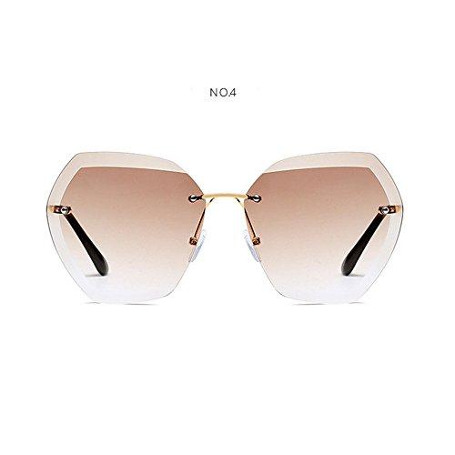 De Sol UV400 Moda Gafas Oculos diseñador sol sin Sunglass femeninas 7 NO mujeres de 2 Color marca NO de montura Ladies para Vintage Summer WLHW la mujeres 1qUftRxU
