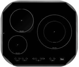 Teka IRC 631 - Placa (Incorporado, Eléctrico, Negro, Electrónico, Sensor, 6100W)