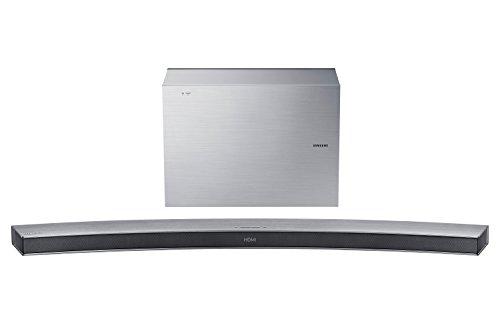 Samsung HW-J6001R/EN Curved 6.1 Soundbar (300 W, kabelloser Subwoofer, Bluetooth) silber