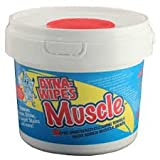 DYNA-WIPES Muscle 9'' x 12'' Dual Texture Heavy-Duty Cleaning Wipes, 80 Count