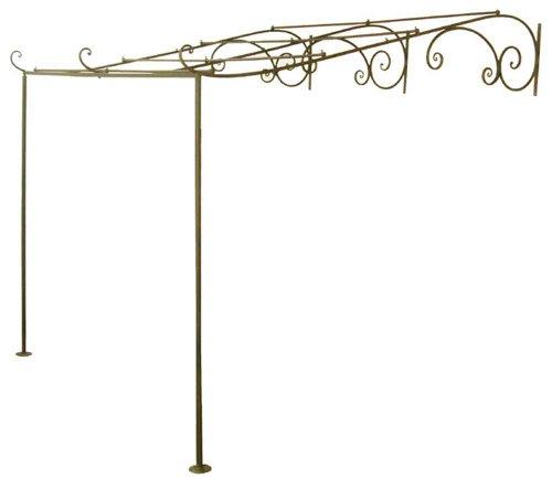 Gartenlaube Terrassenüberdachung Pergola Metall Laube Breite 260 cm