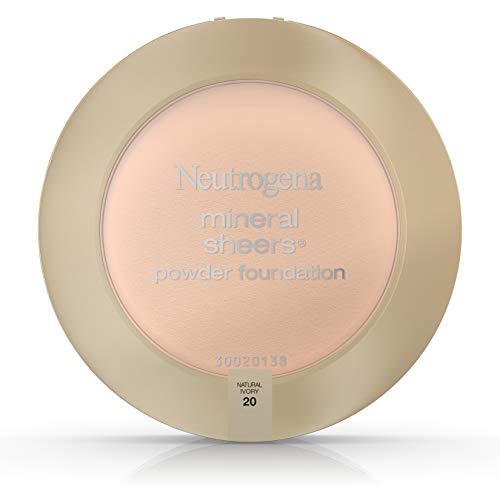 The Natural Sheer Foundation - Neutrogena Mineral Sheers Compact Powder Foundation Spf 20, Natural Ivory 20, .34 Oz. (Pack of 2)