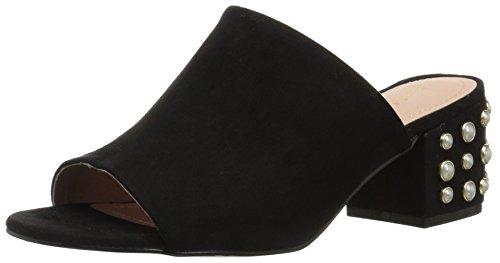 Madden Girl Women's Lorna-P Heeled Sandal, Black Fabric, 7 M US (Mules Black Sandals)