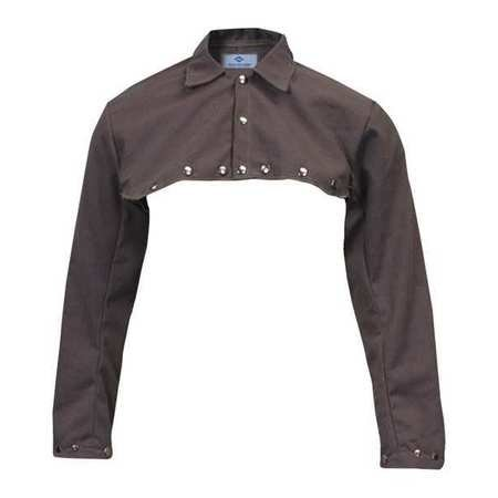 Welding Half Jacket, XL, 30'', Brown by National Safety Apparel Inc