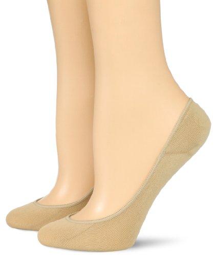 Hue Liner (Hue Women's 2 Pair Pack Ultra Low Cut No Show Liner Sock, Cream, Small/Medium)