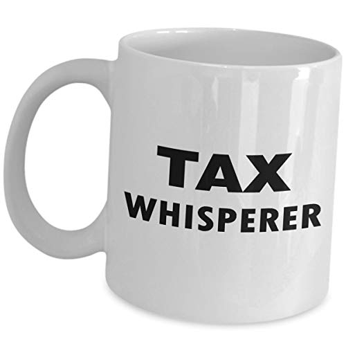 Funny Cute Gag Gifts for Tax Accountant Whisperer - Tea Cup Coffee Mug Accounting Finance Office Co Worker for Men Women Financial Accountancy Preparer Party Appreciation Gift Idea ()